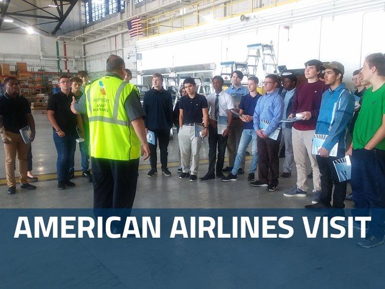 Tech Center Students Tour American Airlines Hangar